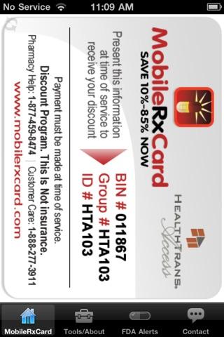 Mobile Rx Card - Prescription DiscountsScreenshot of 1