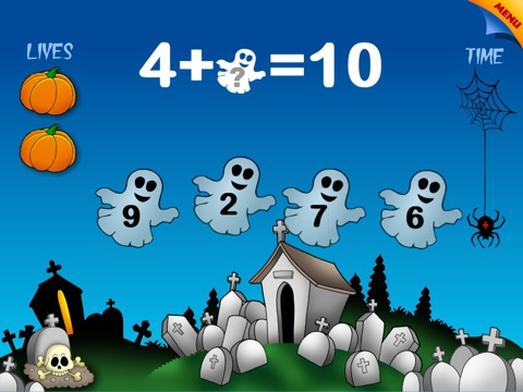 Abby Monkey®: Halloween Basic Math screenshot 1