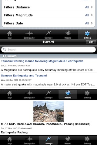 地震危険情報 (Earthquake Pro) screenshot1