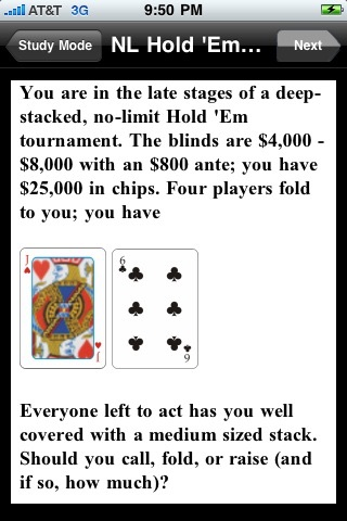NLHE Poker Trainer (Texas Hold 'em) screenshot 1