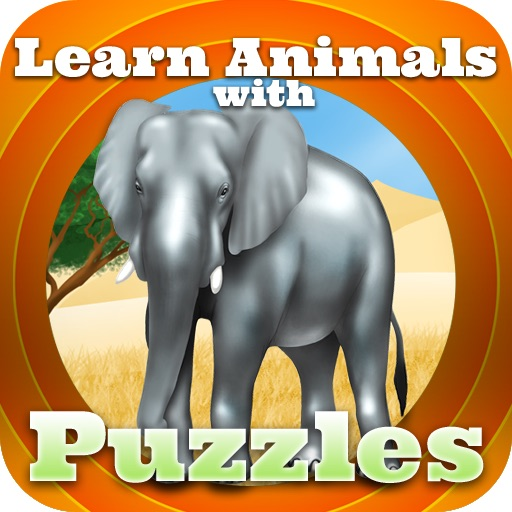 Learn the Animals with Puzzels iOS App