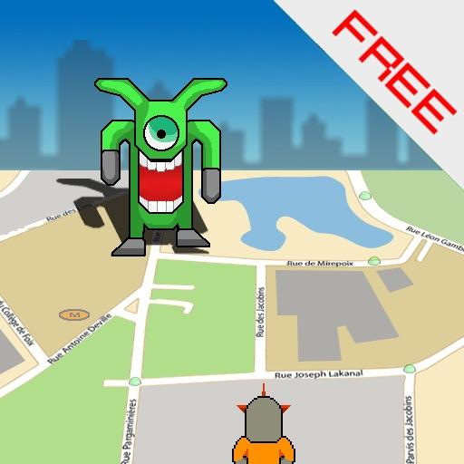 GPS Alien Attack lite iOS App