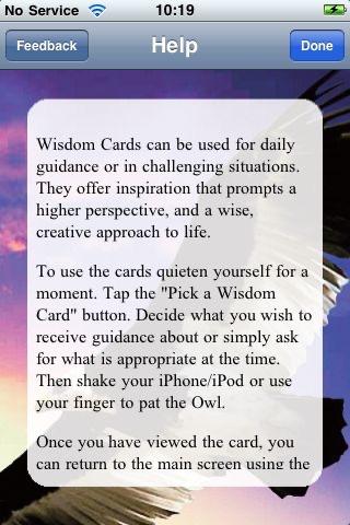 Wisdom Cards - Diana Cooper & Greg Suart screenshot 4
