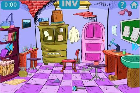 Cartoon Escape: Insane Scientist Screenshot