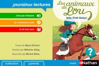 Les animaux de Lou : Vole Petit Galop . Premières Lectures Nathan Screenshot 1