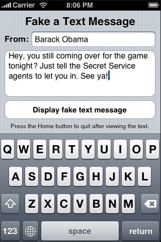 Screenshots of Fake Text Free for iPhone
