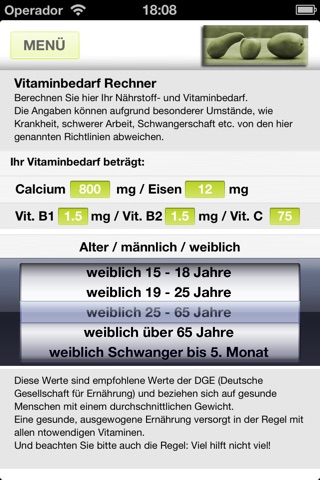Fit-Rechner screenshot 4