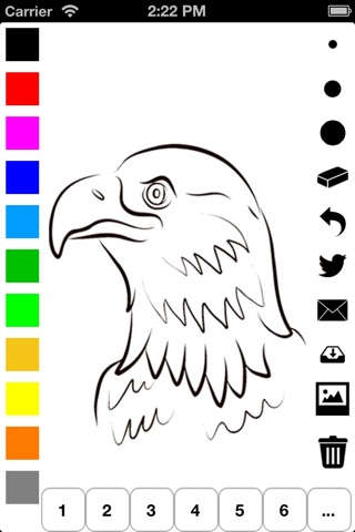 Independence Day Coloring Book for Children: Learn to draw and color icons of the United States of America screenshot 3