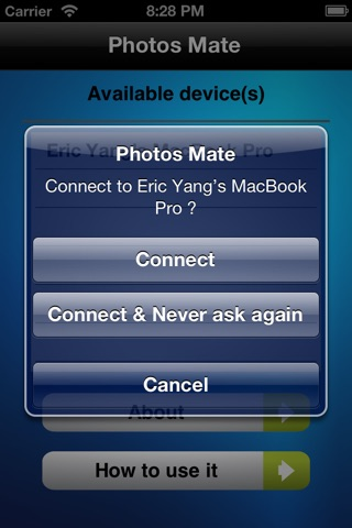 Photos Mate (Transfer photos from Mac to iOS device wirelessly) screenshot 1