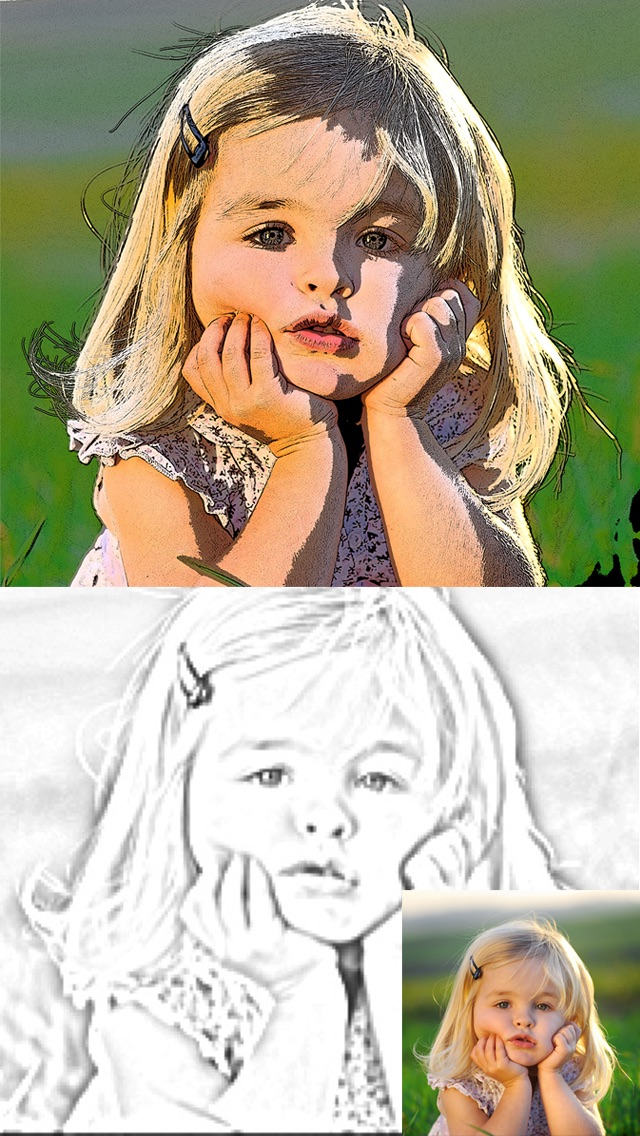 Screenshots of Cartoon Camera Free - univision Sketch Effects In Cam Photo for iPhone