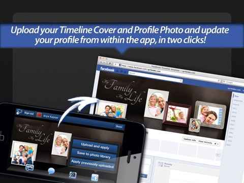 Screenshot #5 for Photo Covers for Facebook: Timeline Editor