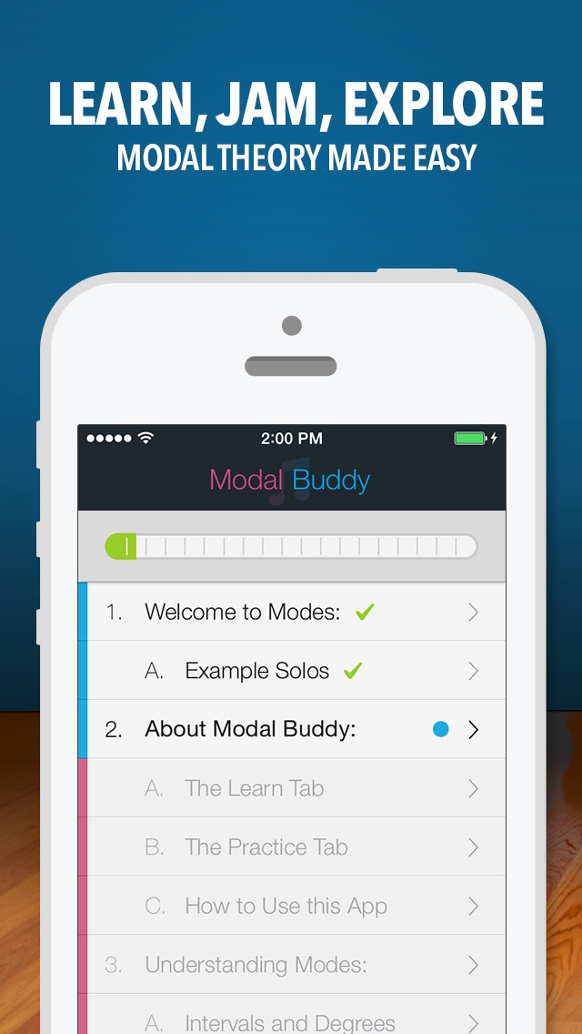 Screenshot #2 for Modal Buddy - Guitar Jam Tool, Scales & Modes Theory Trainer