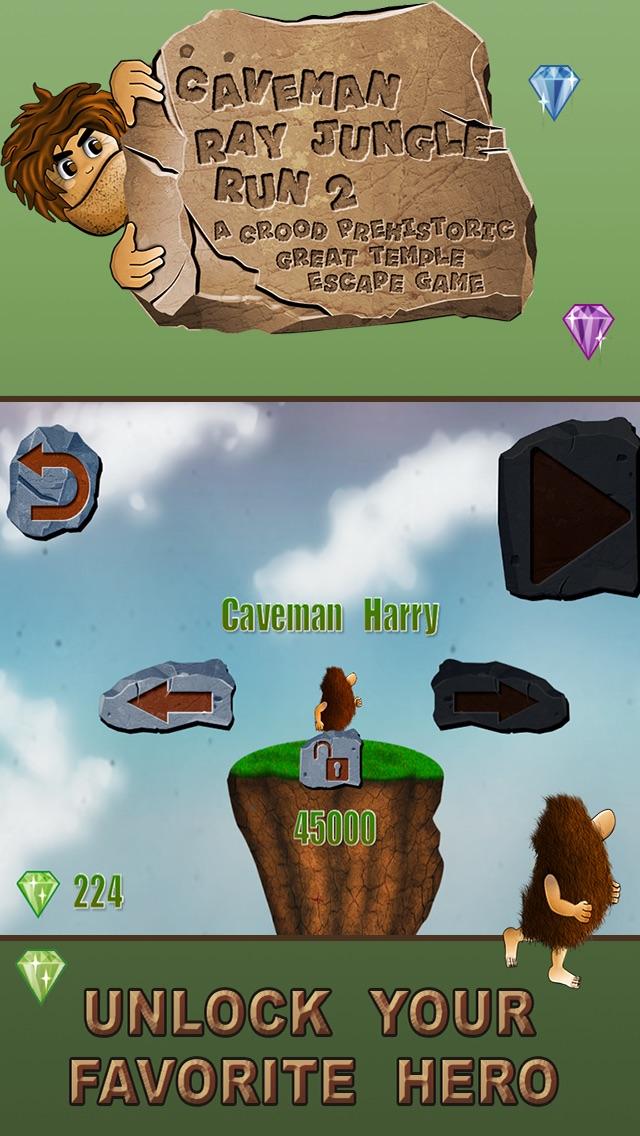 穴居人のジャングルラン:グレート恐竜脱出ゲーム - 無料版のスクリーンショット3