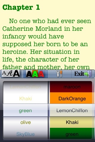 Northanger Abbey by Jane Austen screenshot 2