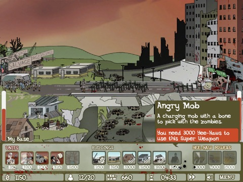 Screenshots of Zombie Trailer Park for iPad