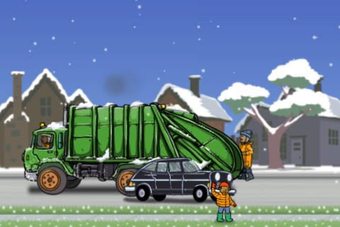 Garbage Truck: Snow Time screenshot 3
