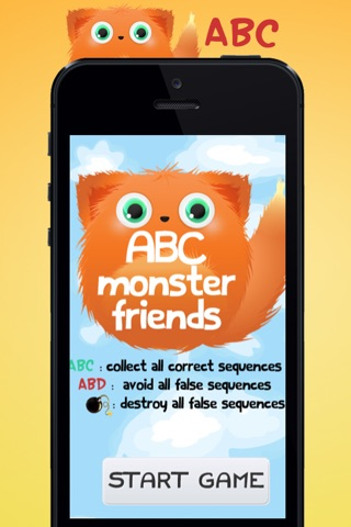 ABC Monster Friends – Fun game for children to learn the letters of the alphabet for preschool, kindergarten or school! screenshot 2