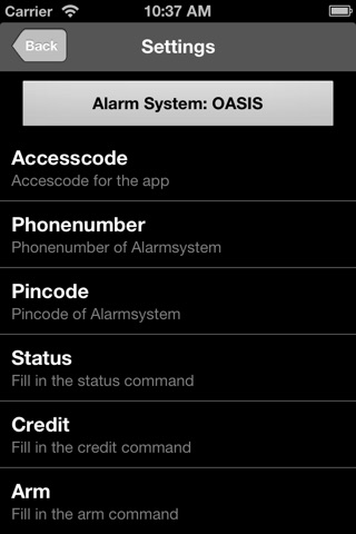 Credex Alarm Remote Control screenshot 3