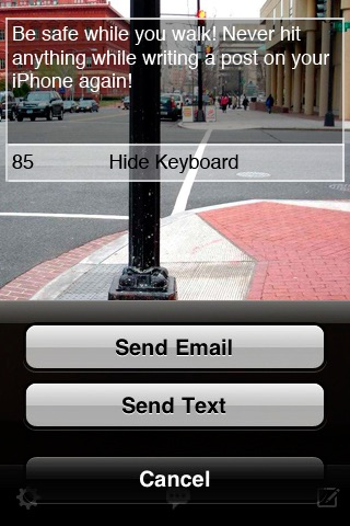 Text Vision Lite! Walk and Compose Posts Safely screenshot 2