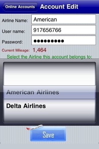 Frequent Flyer Mileage Tracker and Flight Log screenshot 2