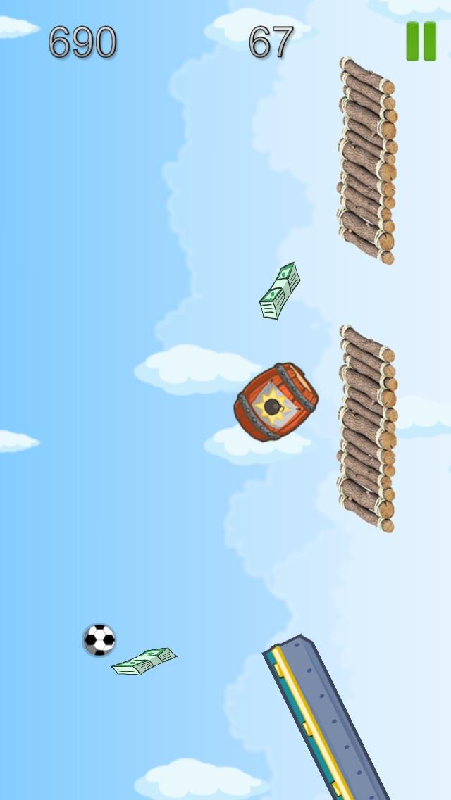 Bouncy Red Green Balls Mega Jumping Goal Screenshot on iOS