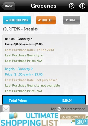 Ultimate Shopping List Lite screenshot 4