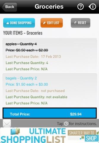 Ultimate Shopping List Lite screenshot 4