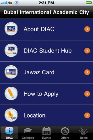 DIAC Student Hub screenshot 1