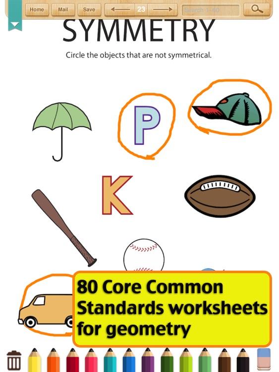 Kids Math Geometry Worksheets1st Grade By Shixian Li