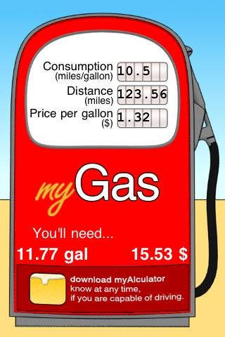 mySprit (Spritverbrauch, Benzin-, Kostenrechner) screenshot 1