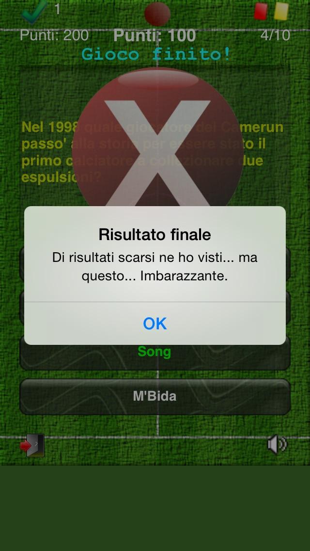 Screenshot of MundialQuiz - Il gioco a quiz sull'evento principale del calcio!4
