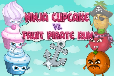A Ninja Cupcake vs Fruit Pirate Run FREE screenshot 1