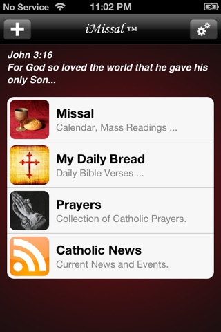 iMissal Catholic (Mass Reading, Calendar, Lectionary) screenshot 1