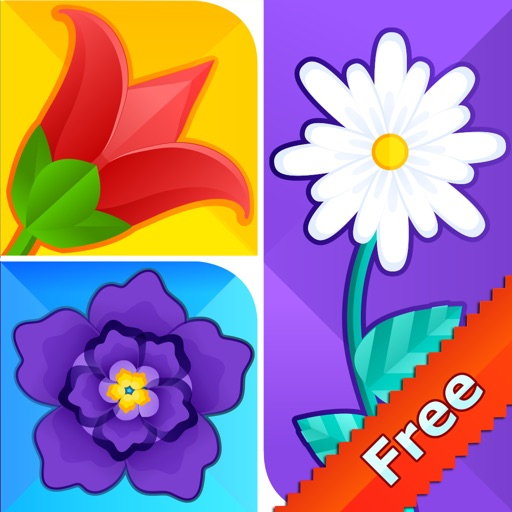 What's The Flower Icon Pop Quiz - Cute Word Guessing English Learning Puzzle Game For Kids FREE iOS App