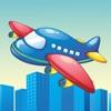 活躍! 飛機遊戲為幼兒學習的幼兒園和 幼兒園