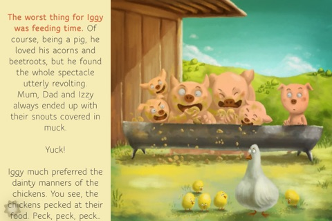 Iggy, the pig who was scared of getting dirty - Lite Version screenshot 2