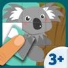 Tier Spiele - Puzzle Spiel mit Tieren für Kinder (9 Teile) 3+