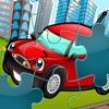 Puzzle der Stadt - Spiel des Puzzles für Kinder, Kleinkinder und Eltern! Lernen mit Autos, Bus, Bahn, Flugzeug und Heli für Kindergarten, Vorschule und Kindergarten