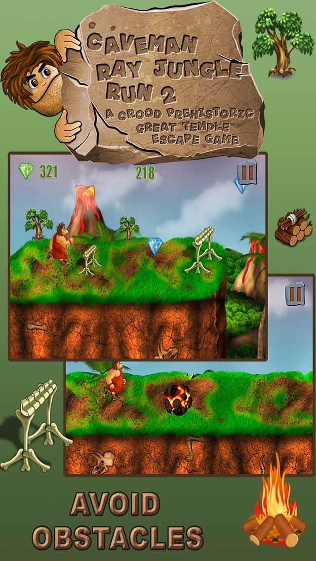 穴居人のジャングルラン:グレート恐竜脱出ゲーム - 無料版のスクリーンショット2
