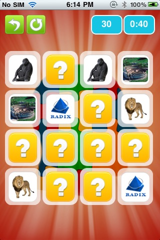 MatchMe memory game screenshot 2