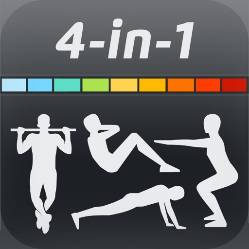 All-round Fitness Pack: Hundred PushUps, 200 SitUps, 200 Squats and 50 PullUps iOS App