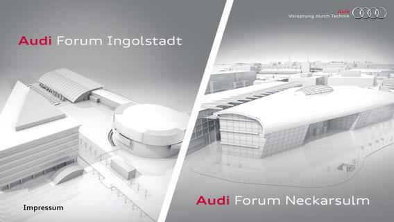 Audi Forum Ingolstadt und Audi Forum Neckarsulm Screenshot