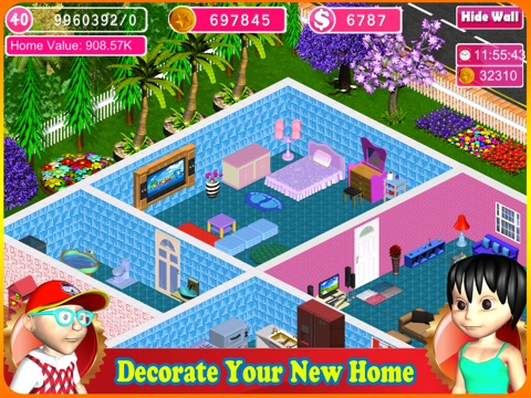 Screenshots of Home Design: Dream House for iPad