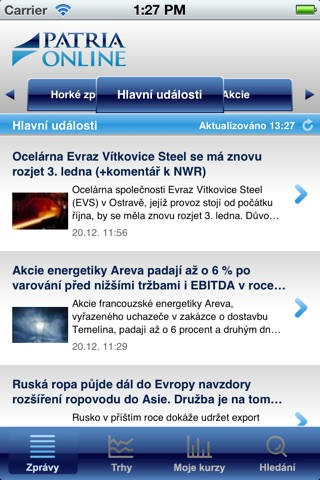 Patria.CZ screenshot 1