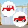 動畫童裝及嬰兒遊戲與瘋狂的汽車和汽車免費:現貨在圖片的誤區。發現的差異和學習邏輯行