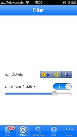 OutletCenter Screenshot