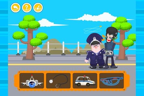 呆呆超人-职业配对(幼儿益智游戏)-黄金教育 screenshot 2