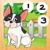 123 Animitiert-es Zähl-Spiel für Babies: Mein-e erst-e Mathe Übung-en. Bis zehn Zählen lern-en mit kleinen Hund-en