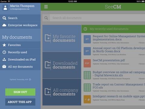 Screenshot of SeeCM