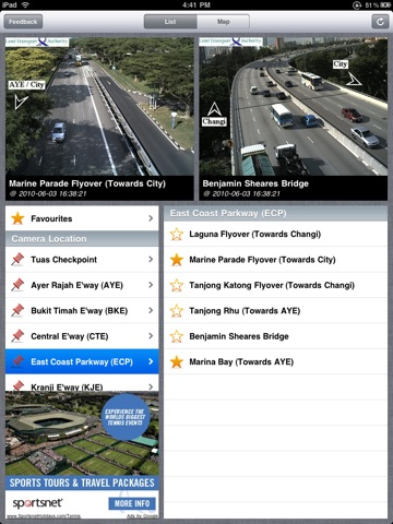 Trafficam SG for iPad (XL) screenshot 1